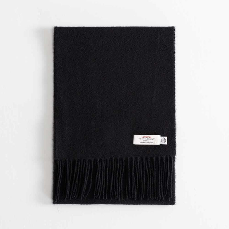 Lambswool Scarf Black -  - CLOTHING  from The Wool Company
