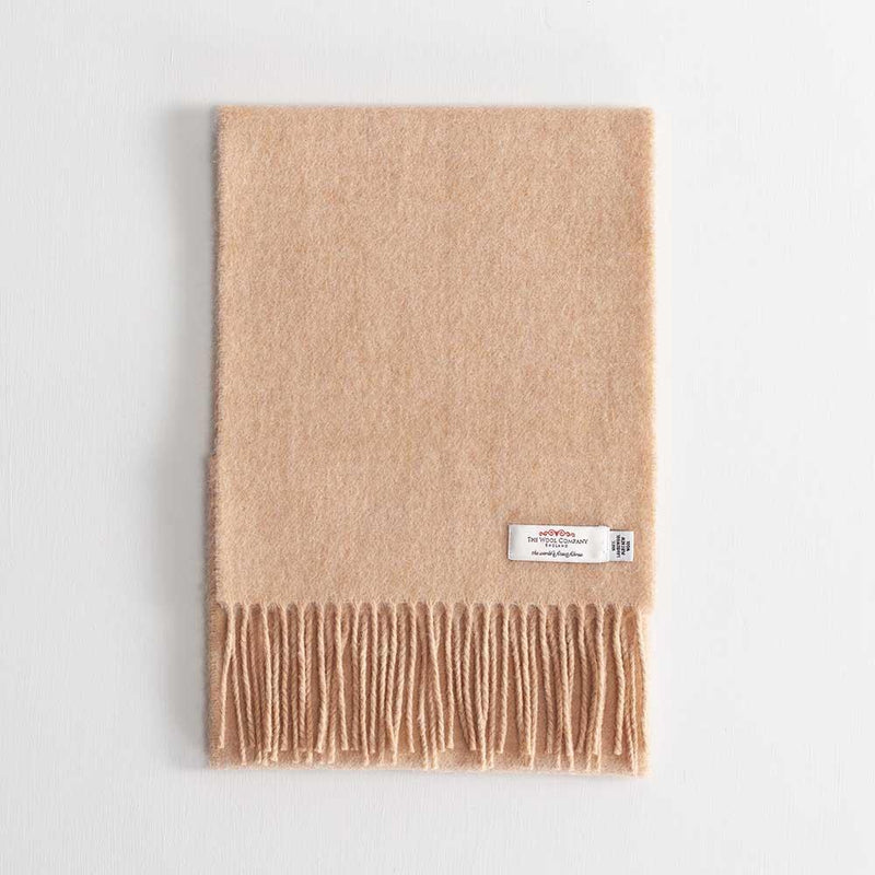 Buy Lambswool Scarf Camel From The Wool Company Online