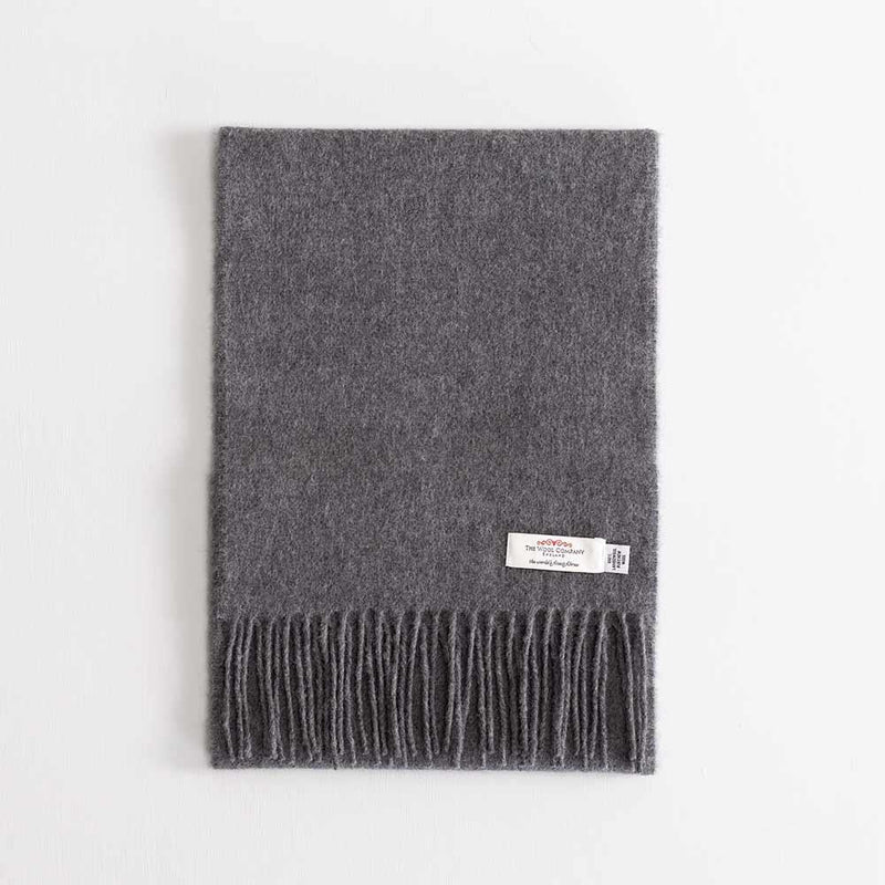 Lambswool Scarf Charcoal -  - CLOTHING  from The Wool Company