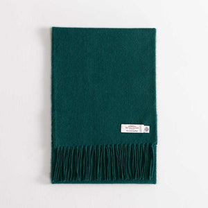 Buy Lambswool Scarf Dark Green From The Wool Company Online