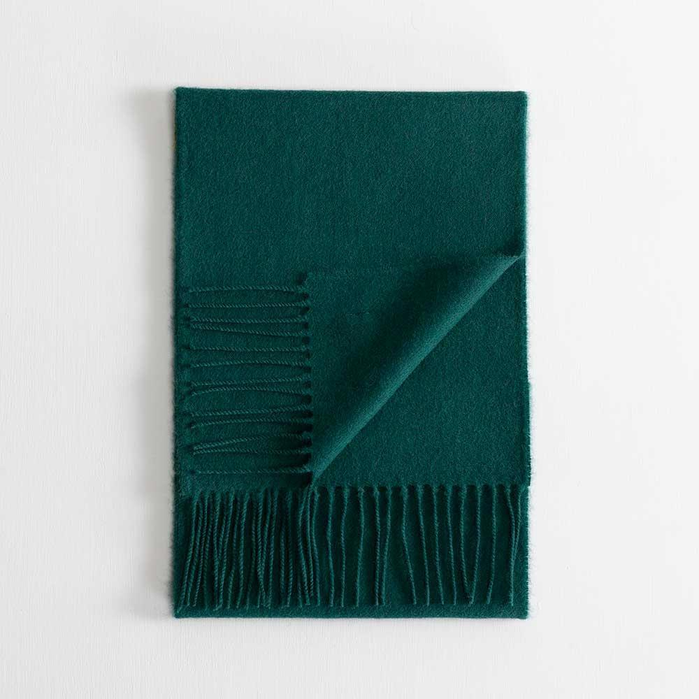 Lambswool Scarf Dark Green -  - CLOTHING  from The Wool Company