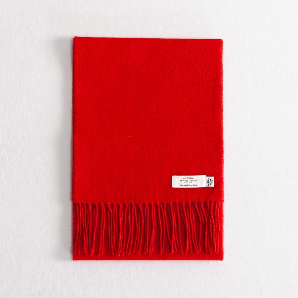 Buy Lambswool Scarf Red From The Wool Company Online