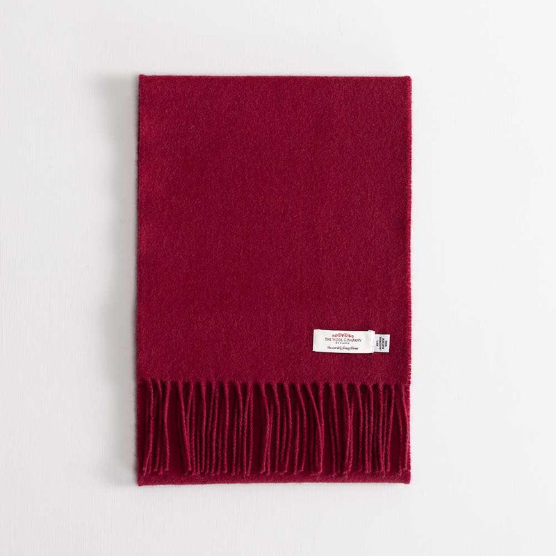 Lambswool Scarf Wine -  - CLOTHING  from The Wool Company