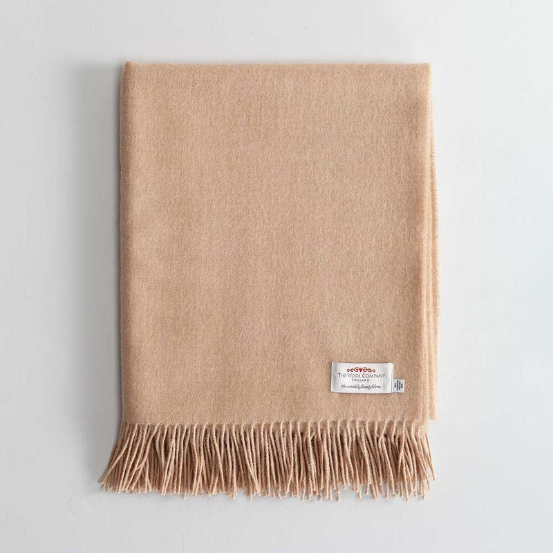 Lambswool Throw Camel -  - LIVING  from The Wool Company