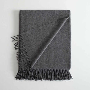 Lambswool Throw Charcoal -  - LIVING  from The Wool Company