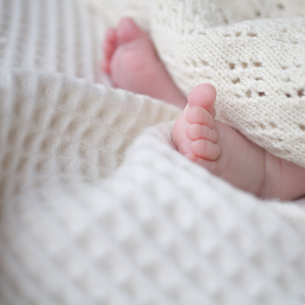 Buy Lambswool Waffle Baby Blankets From The Wool Company Online