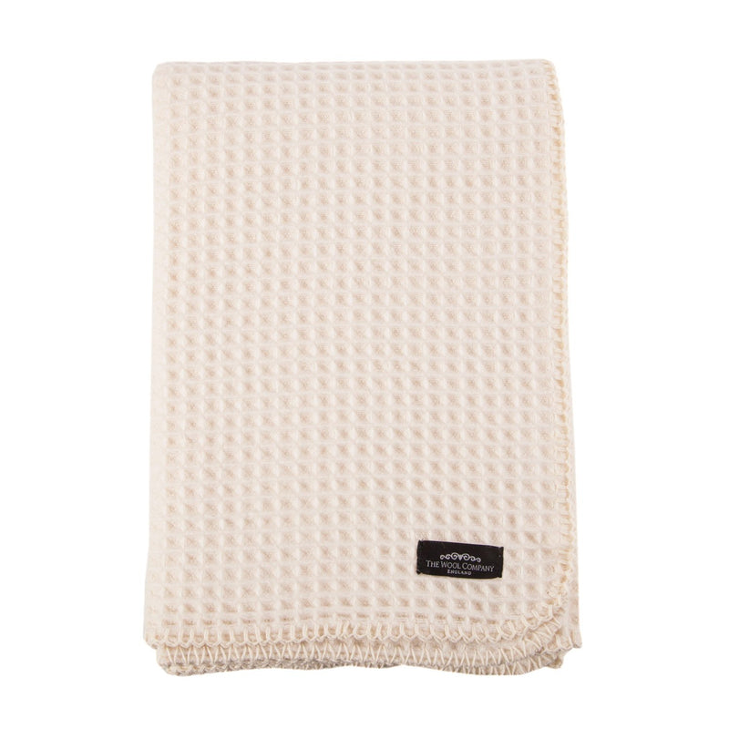 Lambswool Waffle Baby Blankets - Cot 100 x 150 cm - BABY  from The Wool Company
