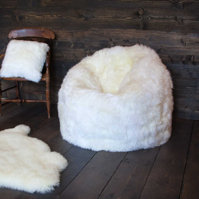 Large Long Wool Sheepskin Bean Bag -  - SHEEPSKIN  from The Wool Company