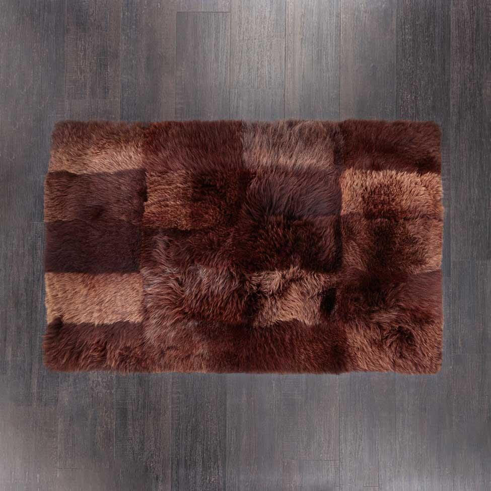 Large Rectangle Sheepskin Rug Chocolate -  - SHEEPSKIN  from The Wool Company