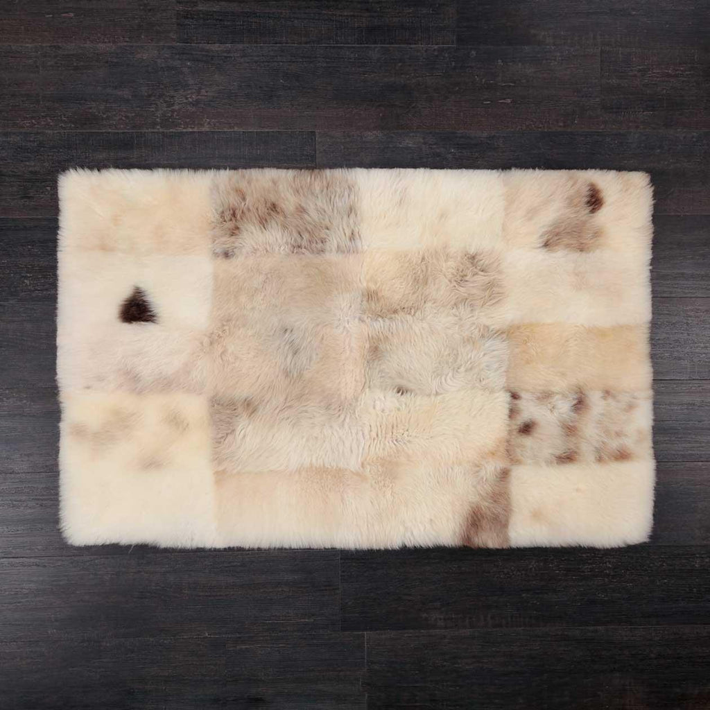 Large Rectangle Sheepskin Rug Frothy Coffee -  - SHEEPSKIN  from The Wool Company