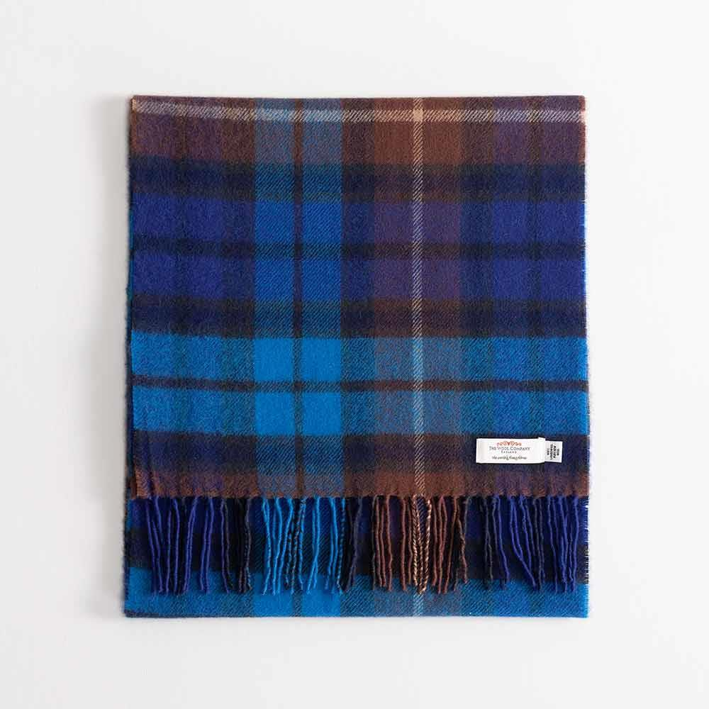 Large Tartan Lambswool Scarf Buchanan Blue -  - CLOTHING  from The Wool Company