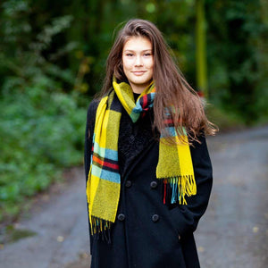 Large Tartan Lambswool Scarf Cornish National -  - CLOTHING  from The Wool Company