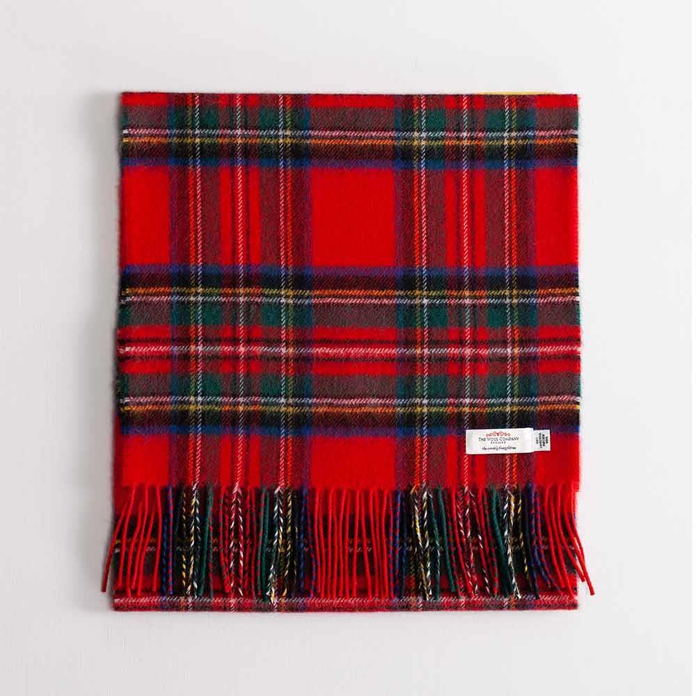 Large Tartan Lambswool Scarf Stewart Royal Modern -  - CLOTHING  from The Wool Company