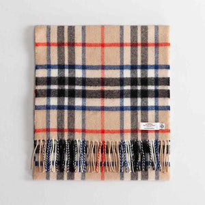 Large Tartan Lambswool Scarf Thomson Camel Modern -  - CLOTHING  from The Wool Company