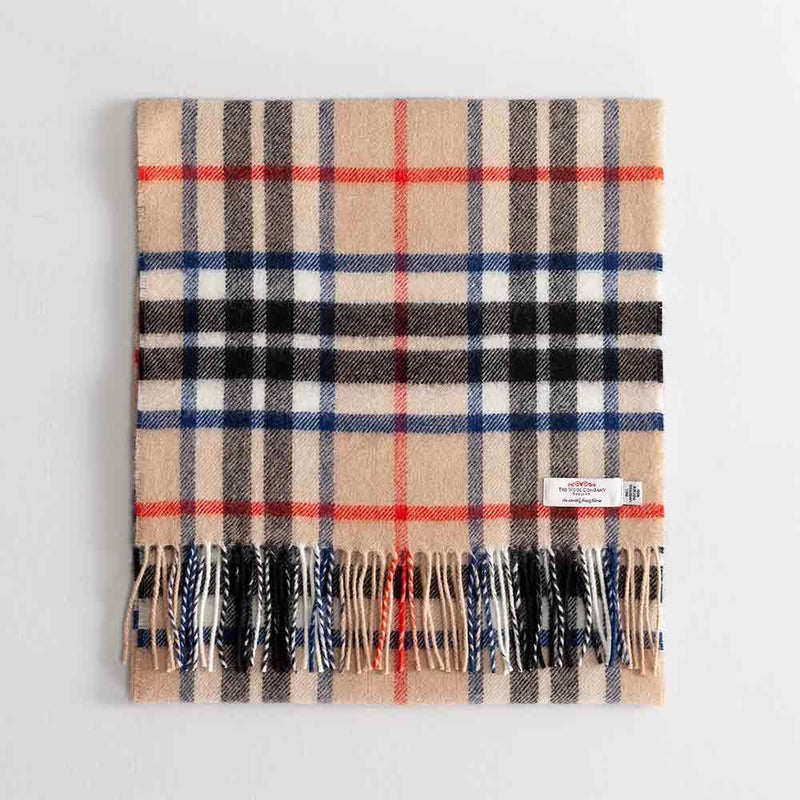 Buy Large Tartan Lambswool Scarf Thomson Camel Modern From The Wool Company Online
