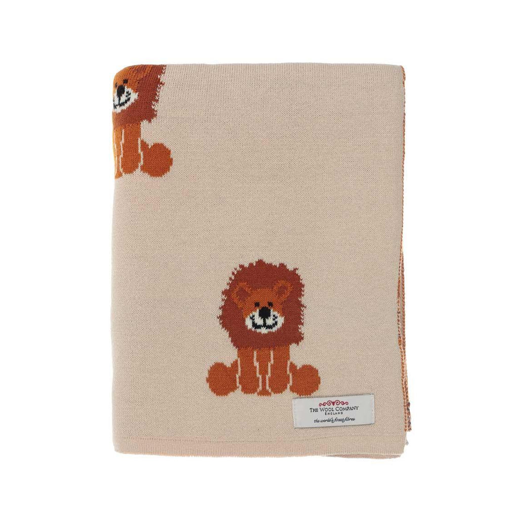 Lenny Lion Baby Blanket Cream -  - BABY  from The Wool Company
