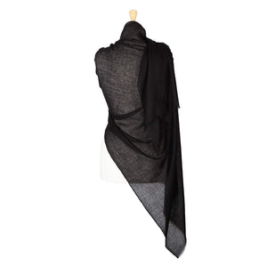 Lightweight Fine Wool Pashmina Black -  - CLOTHING  from The Wool Company