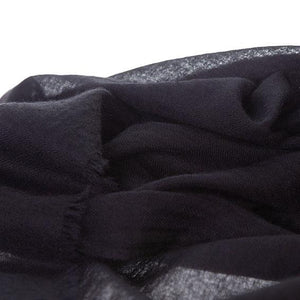 Buy Lightweight Fine Wool Pashmina Black From The Wool Company Online