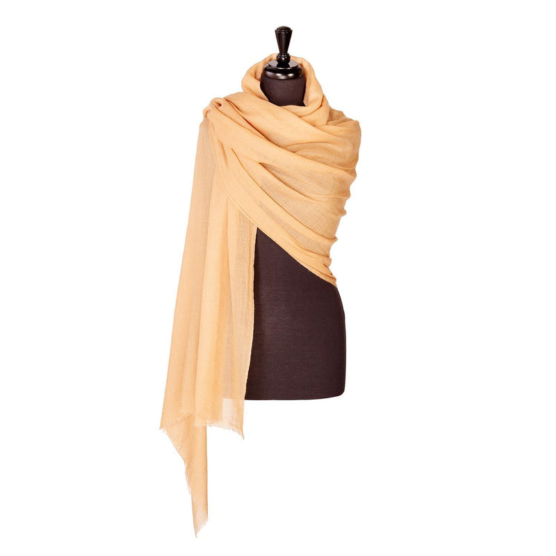 Lightweight Fine Wool Pashmina Camel -  - CLOTHING  from The Wool Company