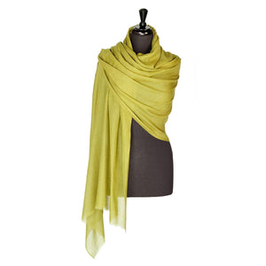 Lightweight Fine Wool Pashmina Chatreuse -  - CLOTHING  from The Wool Company