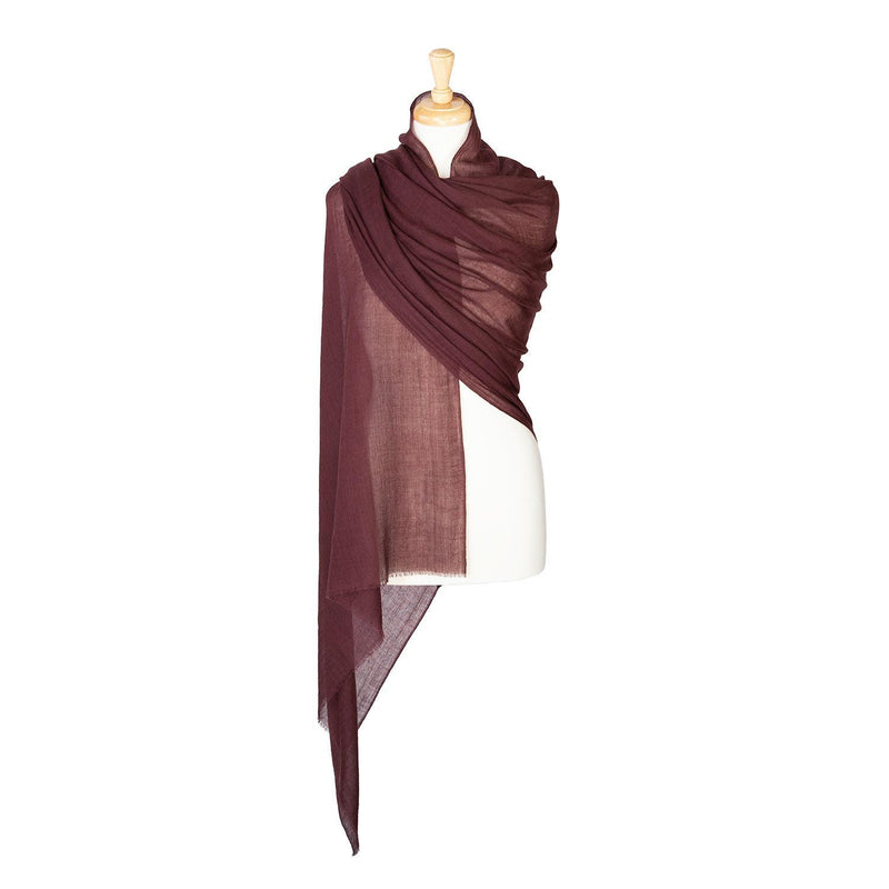 Lightweight Fine Wool Pashmina Chocolate -  - CLOTHING  from The Wool Company