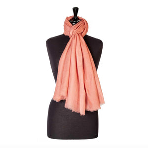 Buy Lightweight Fine Wool Pashmina Coral From The Wool Company Online