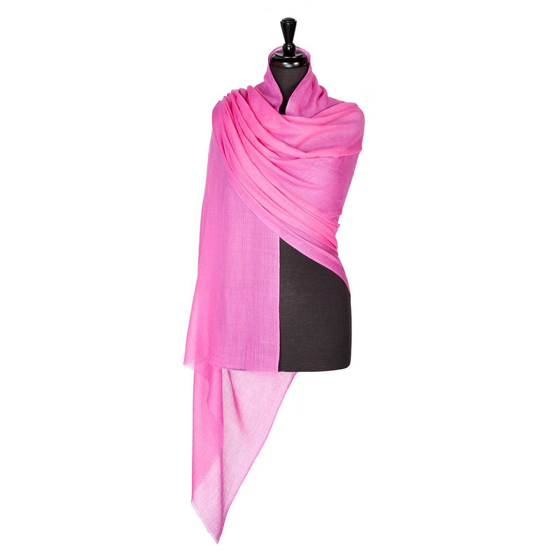 Buy Lightweight Fine Wool Pashmina Dark Pink From The Wool Company Online