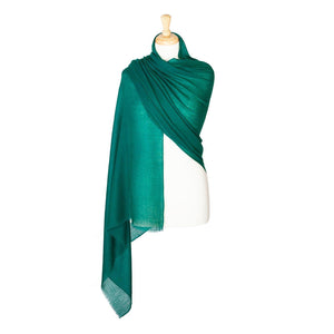 Lightweight Fine Wool Pashmina Emerald -  - CLOTHING  from The Wool Company