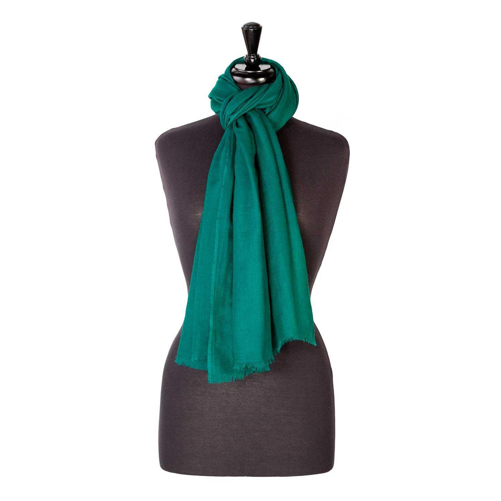Buy Lightweight Fine Wool Pashmina Emerald From The Wool Company Online