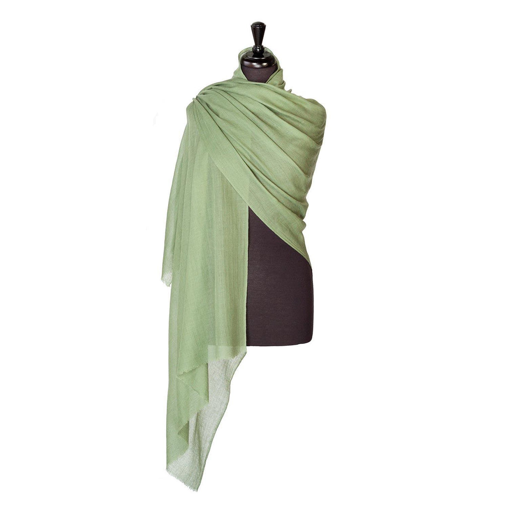 Lightweight Fine Wool Pashmina Khaki -  - CLOTHING  from The Wool Company