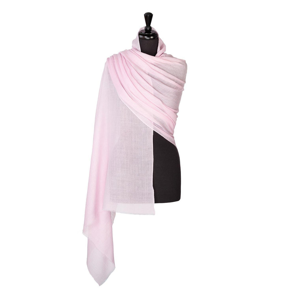Lightweight Fine Wool Pashmina Light Pink -  - CLOTHING  from The Wool Company