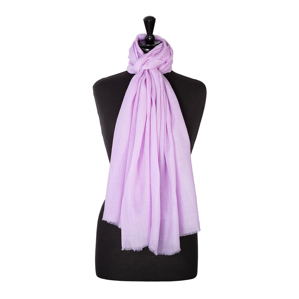 Buy Lightweight Fine Wool Pashmina Lilac From The Wool Company Online