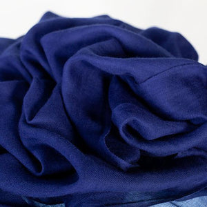 Lightweight Fine Wool Pashmina Navy -  - CLOTHING  from The Wool Company