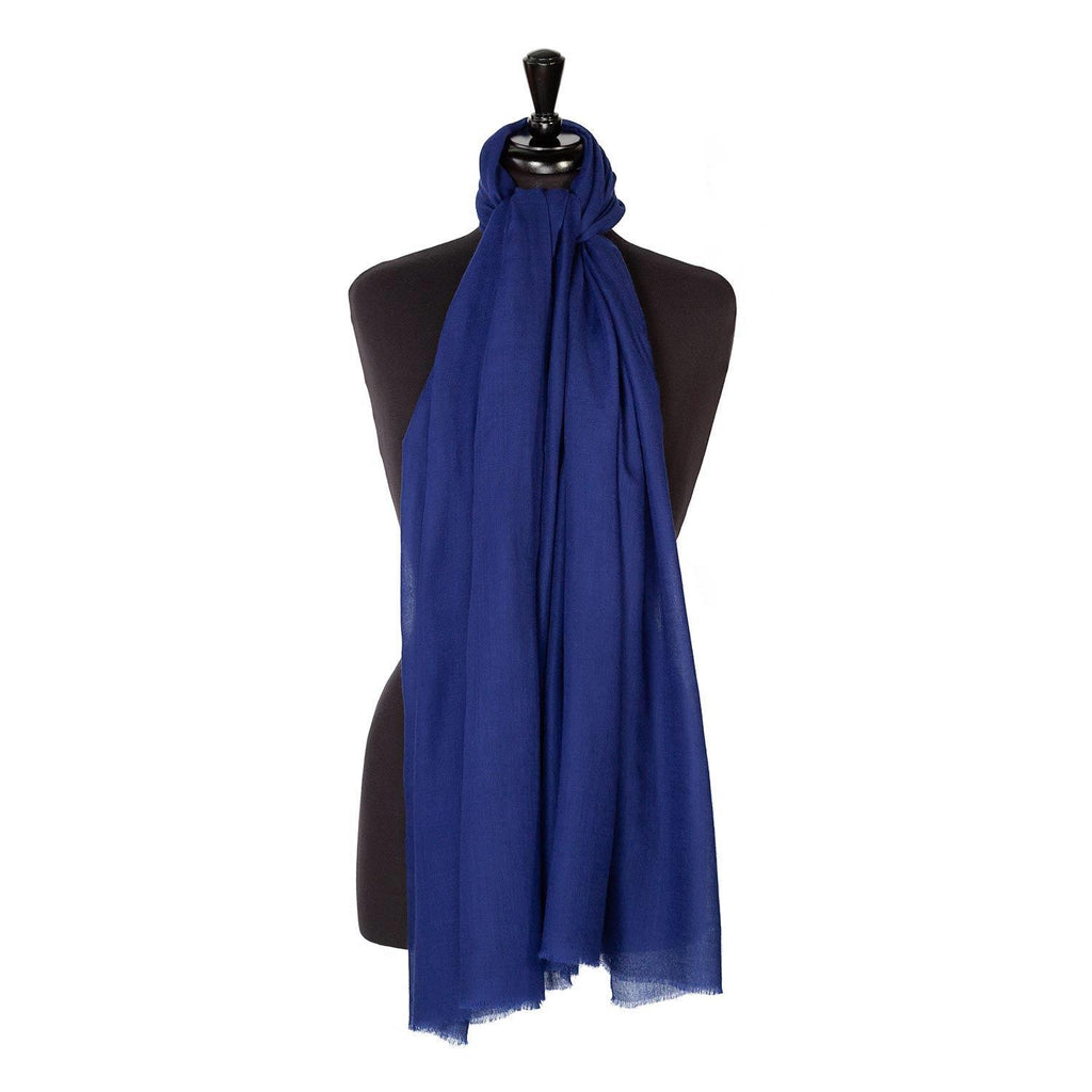 Buy Lightweight Fine Wool Pashmina Navy From The Wool Company Online
