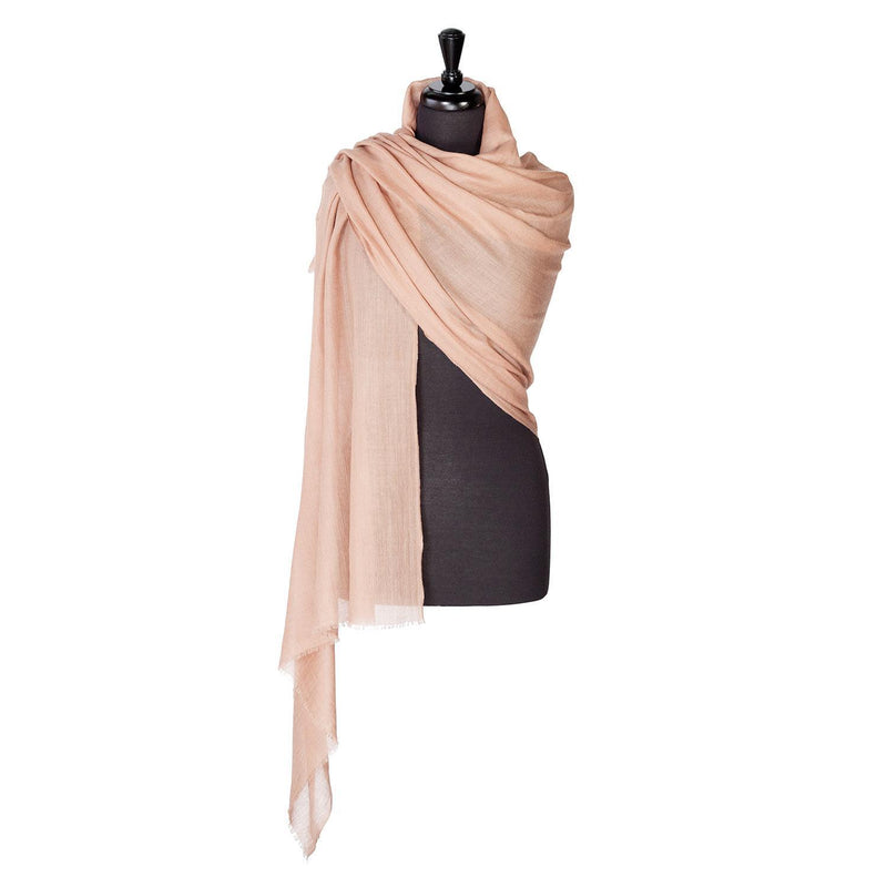 Lightweight Fine Wool Pashmina Otter -  - CLOTHING  from The Wool Company