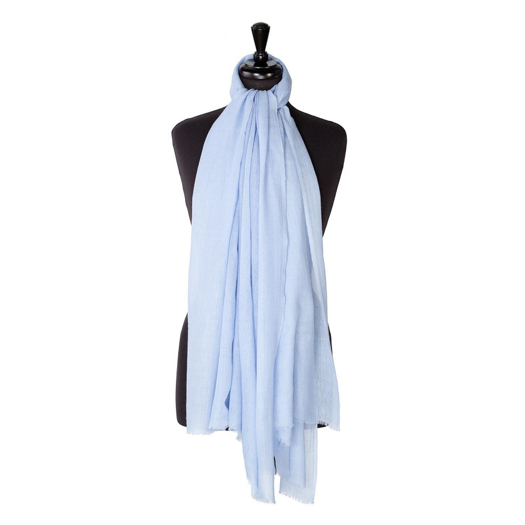 Lightweight Fine Wool Pashmina Pale Blue -  - CLOTHING  from The Wool Company
