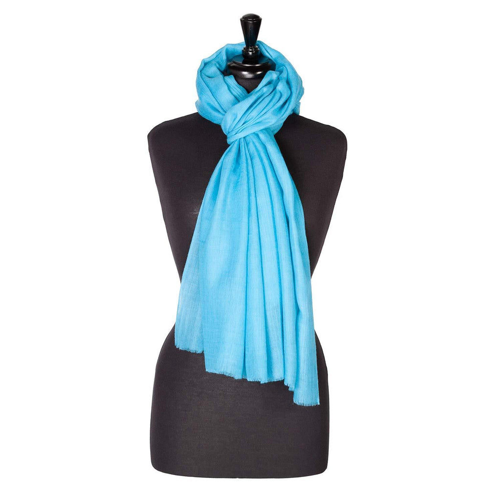 Lightweight Fine Wool Pashmina Peacock -  - CLOTHING  from The Wool Company