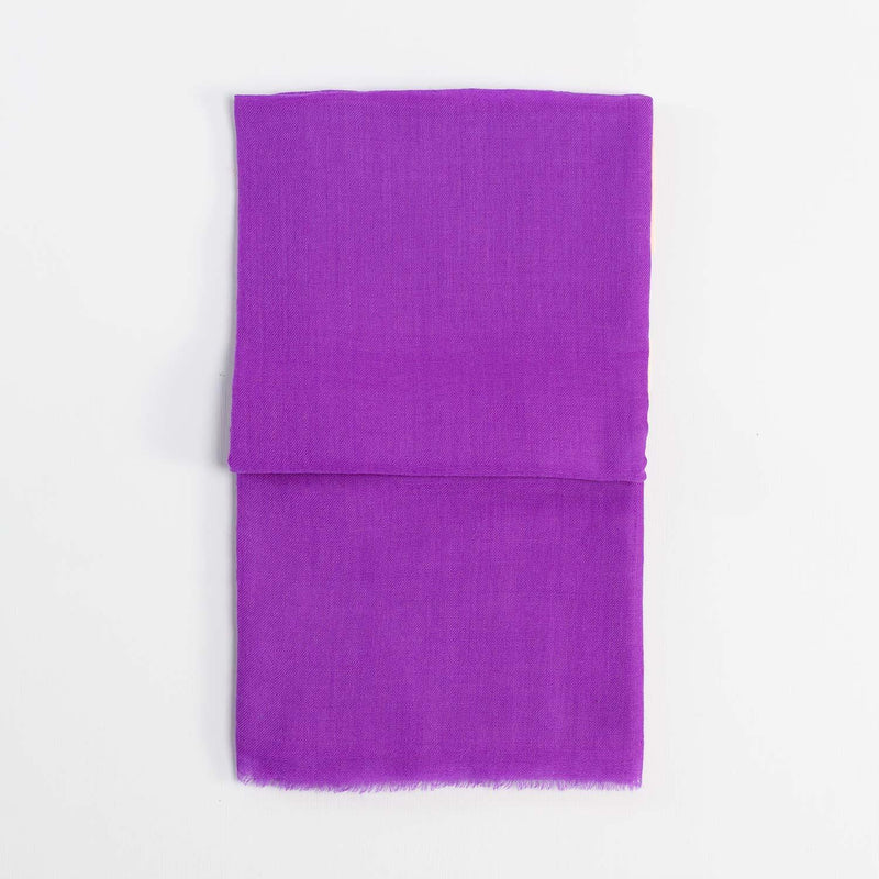 Buy Lightweight Fine Wool Pashmina Purple From The Wool Company Online