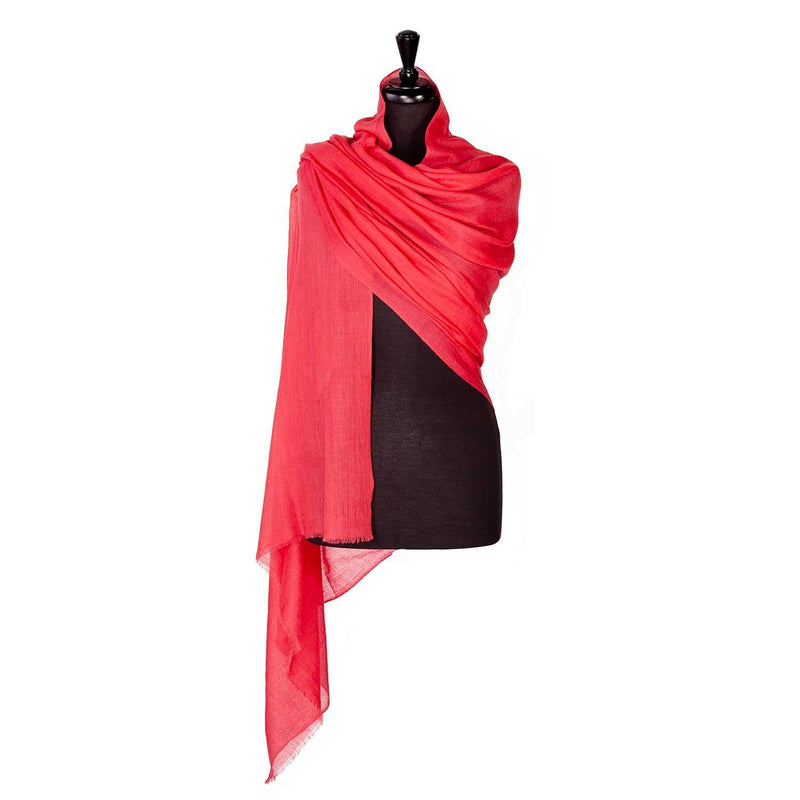 Buy Lightweight Fine Wool Pashmina Raspberry From The Wool Company Online