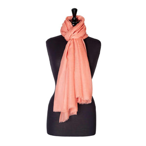 Lightweight Fine Wool Pashmina Rose Gold -  - CLOTHING  from The Wool Company