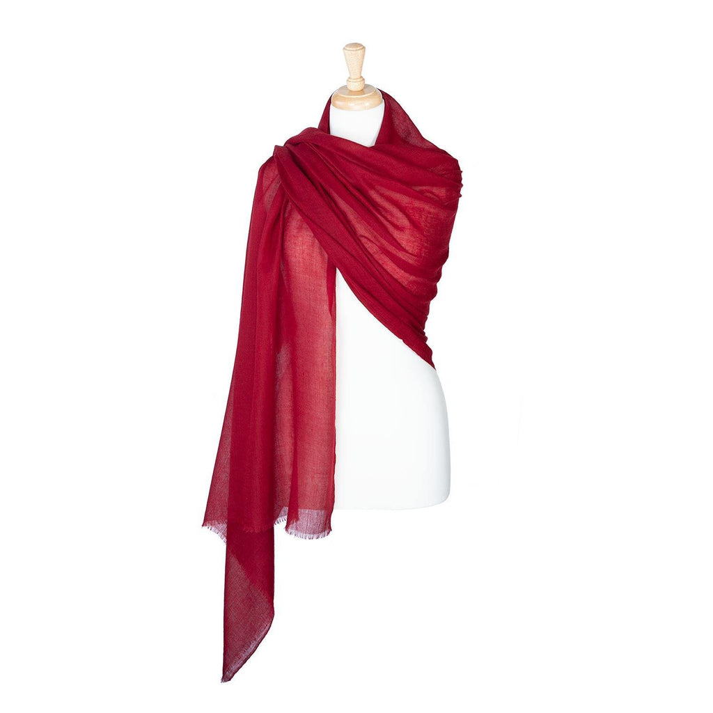 Lightweight Fine Wool Pashmina Russet -  - CLOTHING  from The Wool Company