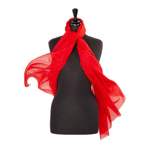 Lightweight Fine Wool Pashmina Scarlet -  - CLOTHING  from The Wool Company