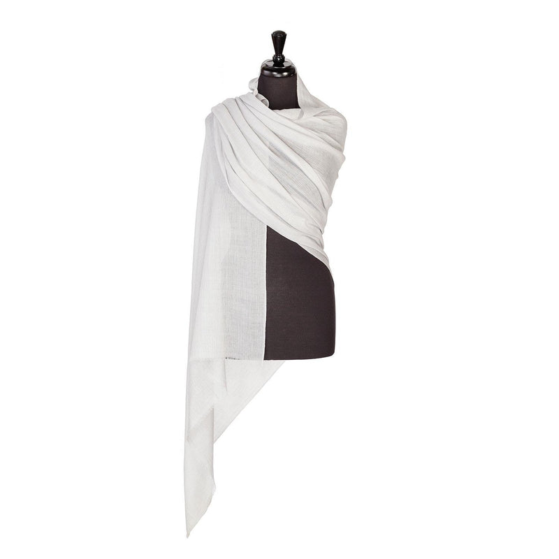 Lightweight Fine Wool Pashmina Silver -  - CLOTHING  from The Wool Company