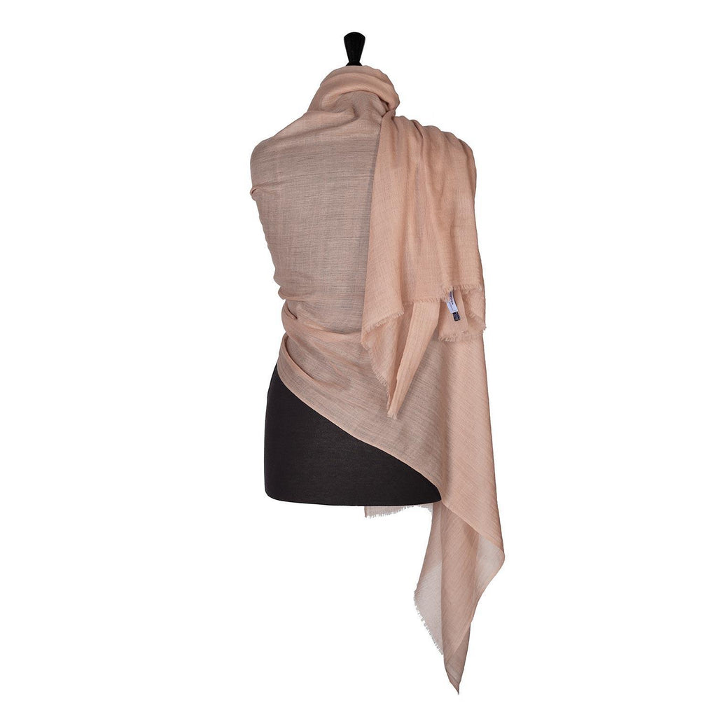 Buy Lightweight Fine Wool Pashmina Taupe From The Wool Company Online