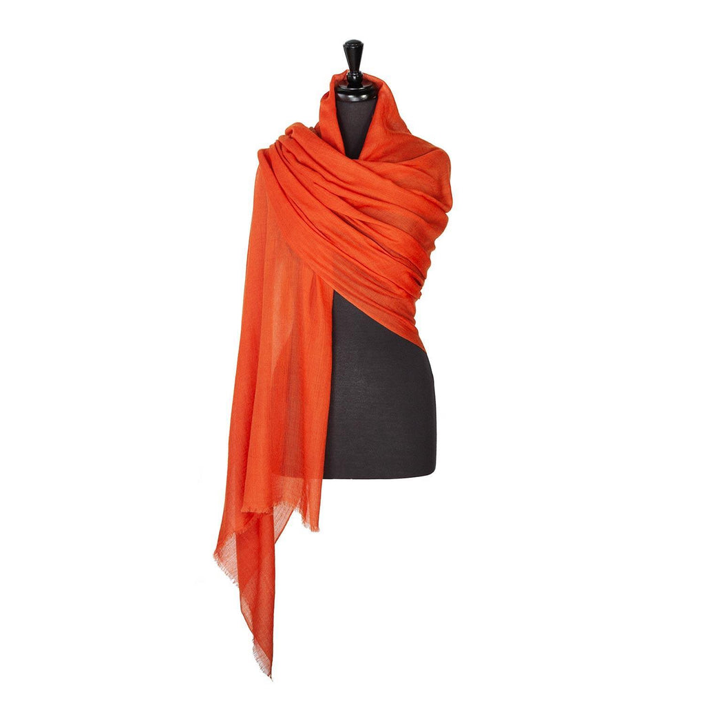 Lightweight Fine Wool Pashmina Terracotta -  - CLOTHING  from The Wool Company