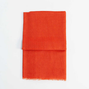 Buy Lightweight Fine Wool Pashmina Terracotta From The Wool Company Online