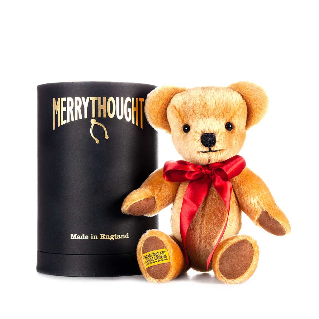 London Gold Teddy Bear by Merrythought -  -   from The Wool Company