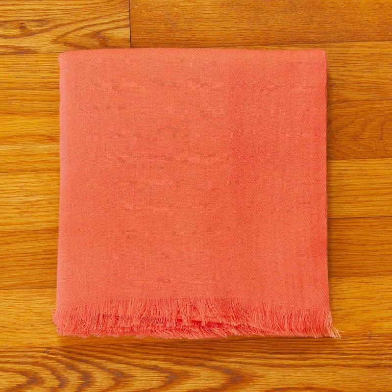 Luxury Cashmere Pashmina With Soft Fringe in Peach Melba -  - OFFERS and SALE  from The Wool Company