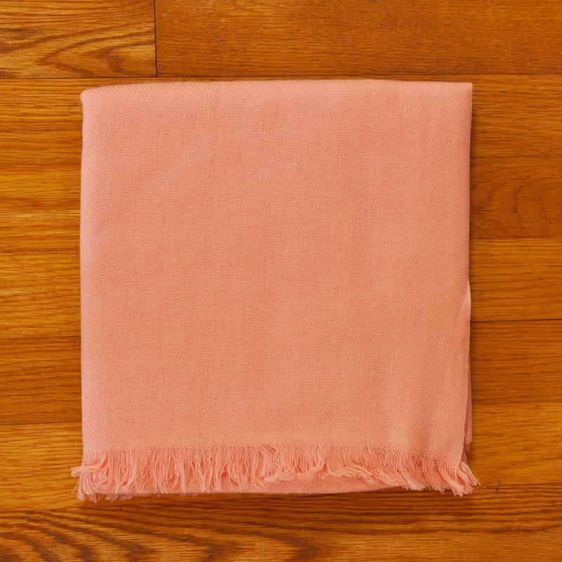 Luxury Cashmere Pashmina With Soft Fringe in Peach -  - OFFERS and SALE  from The Wool Company