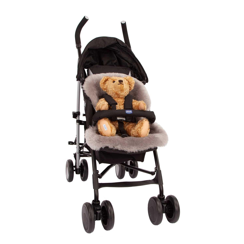 Luxury Dove Grey Sheepskin Pushchair Liner -  - BABY  from The Wool Company